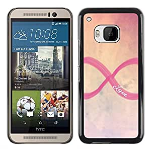 Planetar® ( Infinity Infinite Love Sky Purple Yellow ) HTC One M9 Fundas Cover Cubre Hard Case Cover