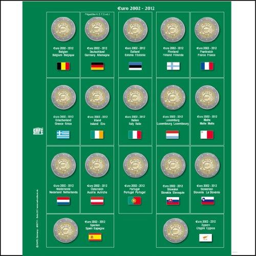 1 X Safe 7341 8 2 Euromünzen Premium Vordruckblatt Nachtrag 2012
