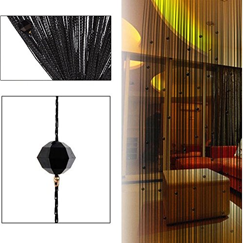 100x200 cm Fashion Decoration Beaded String Curtain Door Divider Crystal Beads Tassel Screen Home Decoration