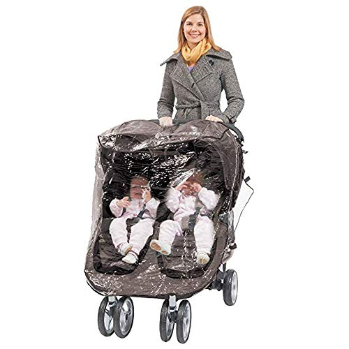 Comfy Baby Rain Cover Fits City Mini GT Double Stroller, Perforated Air Vents for Circulation, Snug Fit