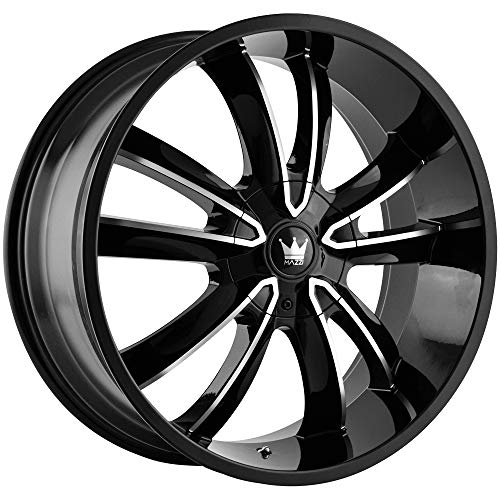 Mazzi OBSESSION 366 Gloss Black/Machined Face Wheel Finish (20 x 8.5 inches /5 x 114 mm, 35 mm Offset) (2011 Jeep Grand Cherokee Rims For Sale)