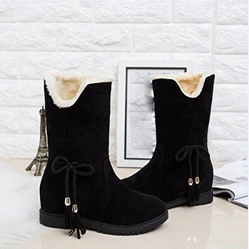Ankle Boots Women Winter Boots KaiCran Winter Snow For Women's Black Boots Boots Shoes Lady nwqRvzTp