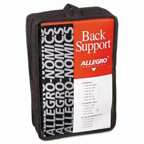 Allegro Economy Back Support, Belt Style, Large, Black (7 Units)