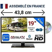 "VISION19DVD - COMBINÉ TV DVD ULTRAHD LED 19"" 47cm 24V 12V MOBILETV pour Camping Car"