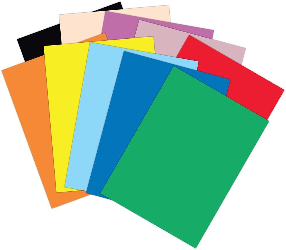 Amazon.com : Roselle 9x12 Vibrant Construction Paper, 50 count ...