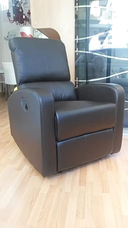 Poltrona Relax Con Poggiapiedi.Poltrona Relax Reclinabile Con Poggiapiedi Recliner Sistema Manuale Col Marrone