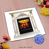 VROSELV Custom Cotton Microfiber Ultra Soft Hand Towel-white artificial fireplace isolated on white background Custom pattern of household products(20''x20'')