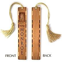 Marilyn Monroe Engraved Wooden Bookmark with Tassel