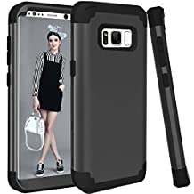 Galaxy S8 Plus Case, MCUK [Shock Absorption] 3 in 1 Drop Protection High Impact Hybrid Armor Defender Silicone Rubber Skin Hard Case Cover For Samsung Galaxy S8 Plus / S8+ (2017) (Black Black)