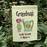 "Double Sided Personalized Love Grows Here Garden Flag, 12 1/2"" w x 18"" h, Polyester Review"