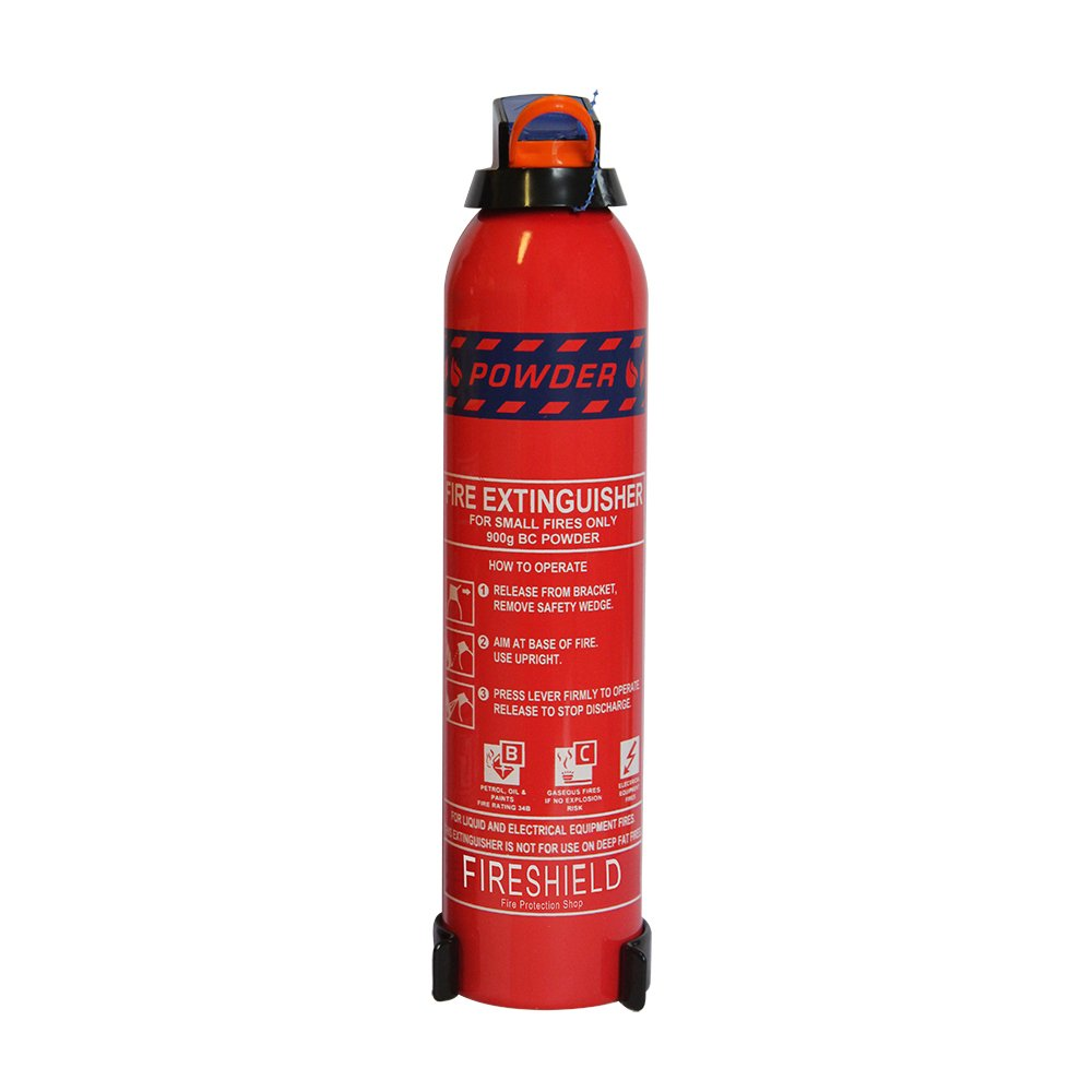 FireShield 600g Domestic Fire Extinguisher - BC Powder for Home & Leisure FireProtectionShop