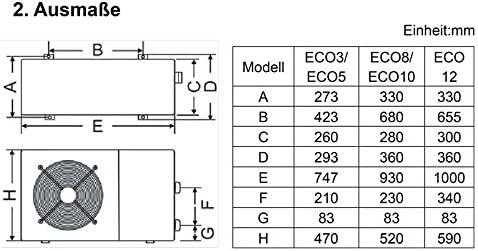 Set Eco Bomba de calor tipo 10 con kit de bypass + winterabdeckung ...