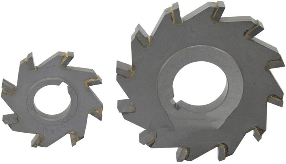 Three Sided Indexable Disc Saw Milling Cutter Alloy Coating Tungsten Steel Tool CNC Blade Maching Flat Carbide Tools 100x14Hx32x12T 63x14hx22x8t