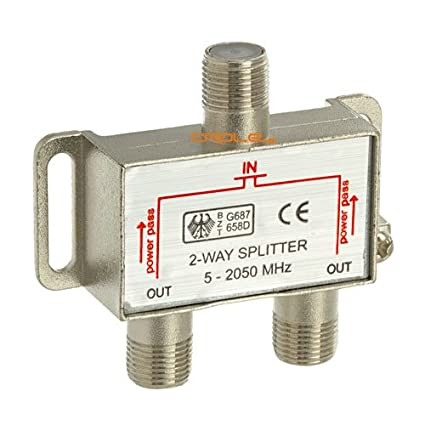 Amazon.com: Valley 2-Way Coax Cable Splitter 2Ghz Cable TV Video ...