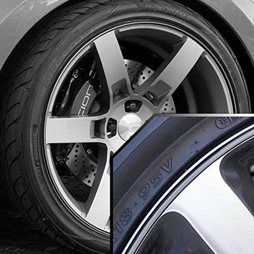 Black 20' Rims (Scion xD Wheel Bands Silver in Black Pinstripe Edge Trim for 13-22' Rims)