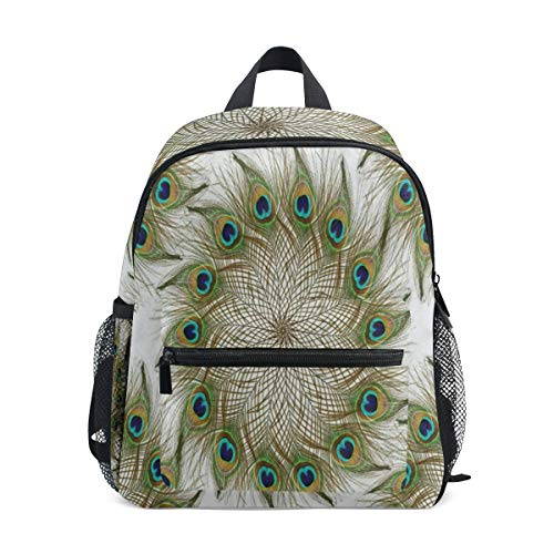 Beautiful Peacock Feather School Backpack For Boys Kids Primary School Bags Children - Notepad Feathers Peacock