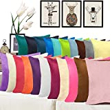 Jusefu Candy Colored Throw Pillow Case Or Cushion Covers Outdoor Indoor Home Decorative Suede Pillow Covers,21 Colors, 10 Sizes Choose, PeacockBlue,60X60CM