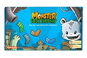 Logic Roots Monster Sock Factory First Step To Multiplication Stem Toy Math Manipulative