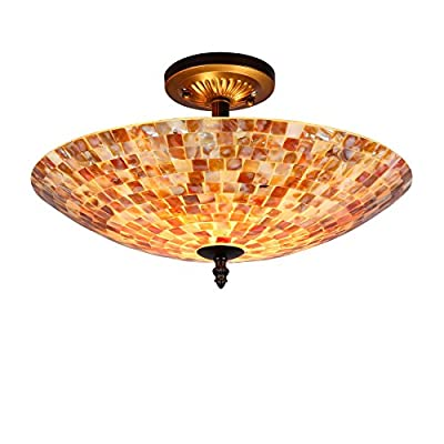 2-Light Round Semi-Flush Ceiling Fixture