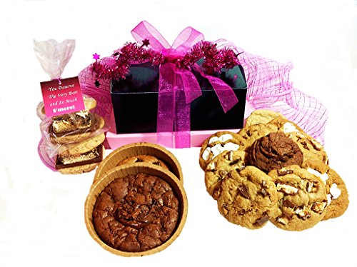 Gift Basket Gourmet Cookies Fresh Baked Our Stuffed Assortment Gift Set Campfire S'mores, Handmade Pizookies, Holiday Gift Giving Food Snacks