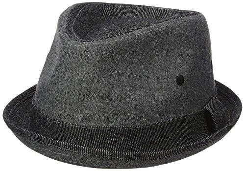 Original Penguin Men's Chambray Porkpie, Black, - Cap Linen Original Penguin