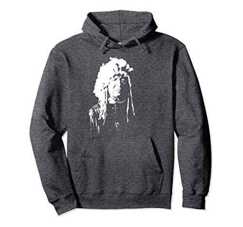 Unisex Native American Chief Hoodie XL: Dark Heather -