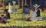 Seurat: Grande Jatte, 1884. /Nstudy For Sunday Afternoon At The Island Of La Grande Jatte. Oil On Canvas By Georges Seurat, C1884. is a licensed reproduction that was printed on Premium Heavy Stock Paper which captures all of the vivid colors and det...