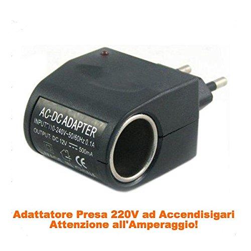69 opinioni per takestop® ADATTATORE AC/DC SPINA 220V output 0.45A 450mAh ACCENDISIGARI AUTO