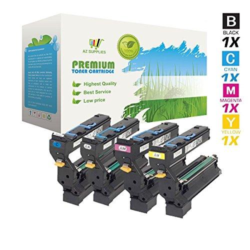 Magicolor 5440dl Color - AZ Compatible with Konica-Minolta 5430 (1710580-001, 1710580-002, 1710580-003, 1710580-004) 4 Color Toner Cartridge Set for MagiColor 5430, MagiColor 5430 DL, MagiColor 5430dl, MagiColor 5440dl