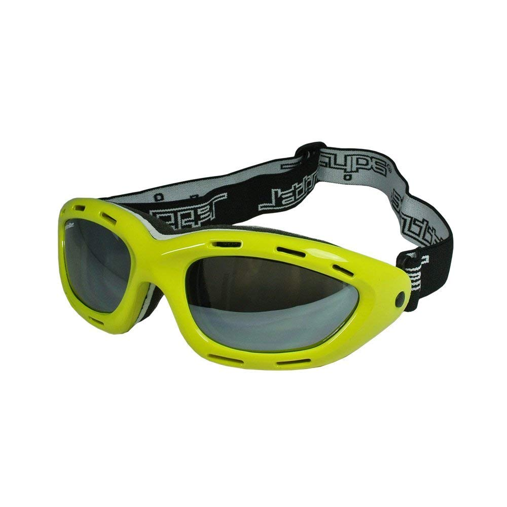 Classic Yellow Frame/Smoke Lens Sunglasses Floating Water Jet Ski Goggles Sport Designed for Kite Boarding, Surfer, Kayak, Jetskiing, other water sports.