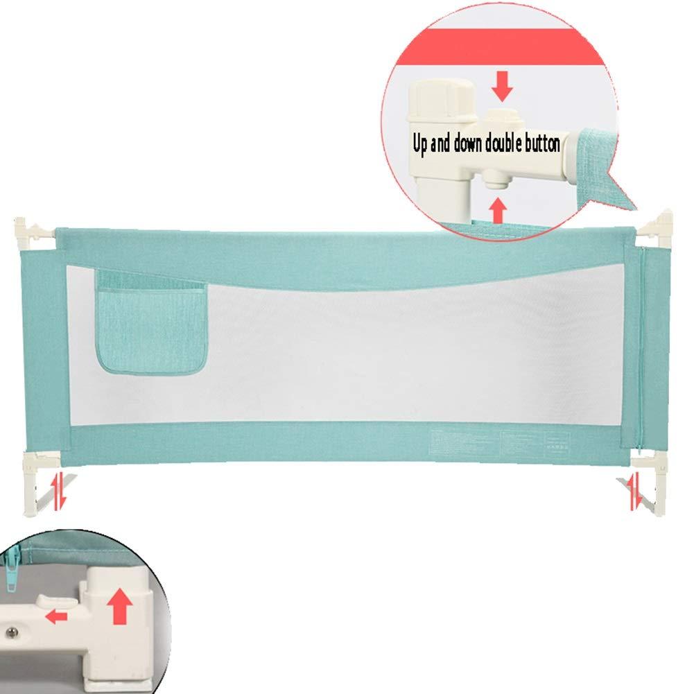 CQILONG ベッドレール3速調整上下ダブルボタン金属フレーム安定した 生地子供のための、2色 4サイズ (色 : ピンク, サイズ さいず : 150x68-80cm) 150x68-80cm ピンク B07S8BW38F