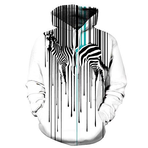 NEWCOSPLAY Unisex Athletic Hooded Sweatshirts 3D Digital Printed Hoodies Colorful Galaxy Pattern Big Pocket Sweaters (L/XL, 299)