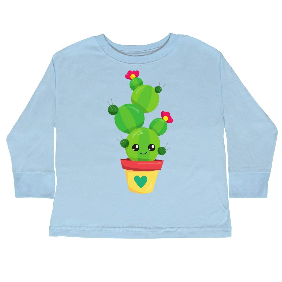 Cactus with Flowers Cactus Toddler Long Sleeve T-Shirt inktastic Cute Cactus