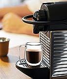 Huada Double Wall Insulated Borosilicate Glass Mugs Modern Espresso Cups, 10-Ounce, Set of 2