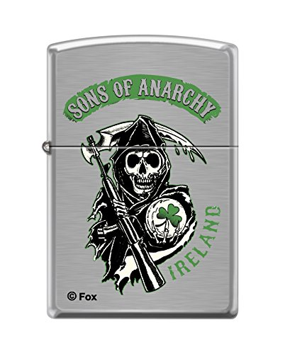 Zippo  Sons Of Anarchy  Brushed Chrome Lighter  8400