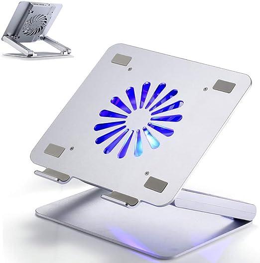 GIRISR Soporte Portátil para Computadora Portátil Soporte De Escritorio Interfaz USB De Aluminio para Oficina Base De Ventilador Soporte para Computadora Enfriador De Computadora Portátil: Amazon.es: Hogar