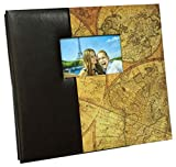 Travel Map Brown Mega Scrapbook Photo Album