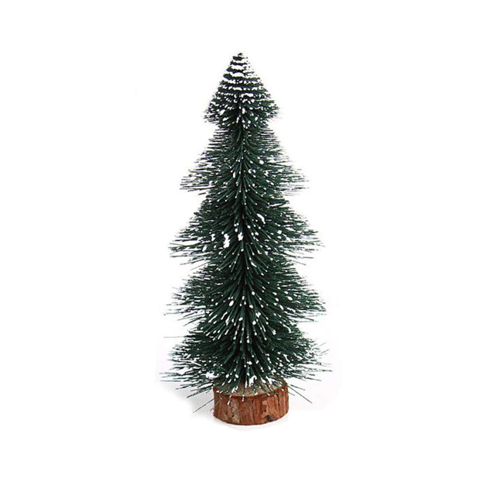 Kingspinner Mini Christmas Tree Festive Stick White Cedar Desktop Small Xmas Tree (Green, 15cm)