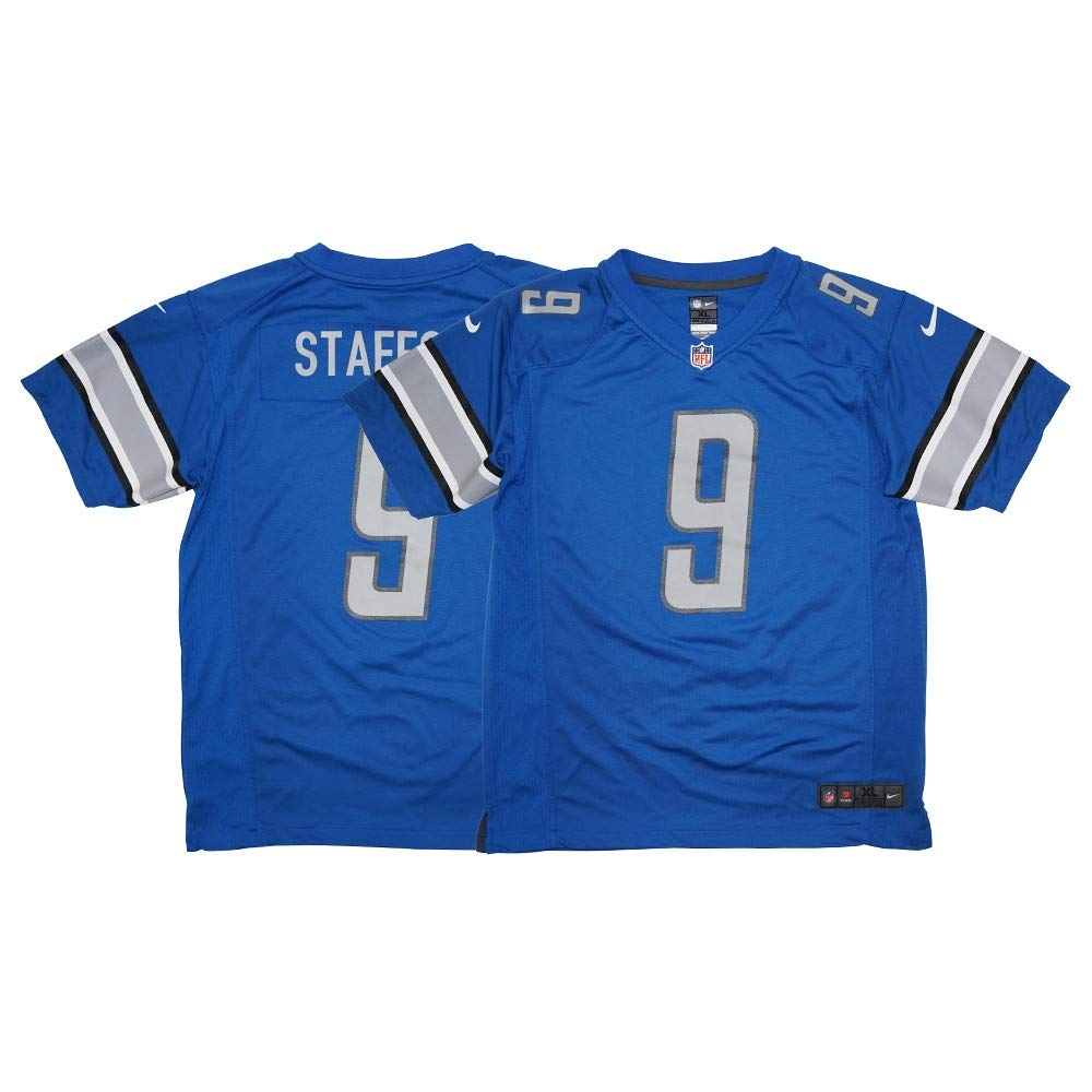 a6886c91 Nike Mathew Stafford Detroit Lions Game Blue Youth Jersey (Youth Size)