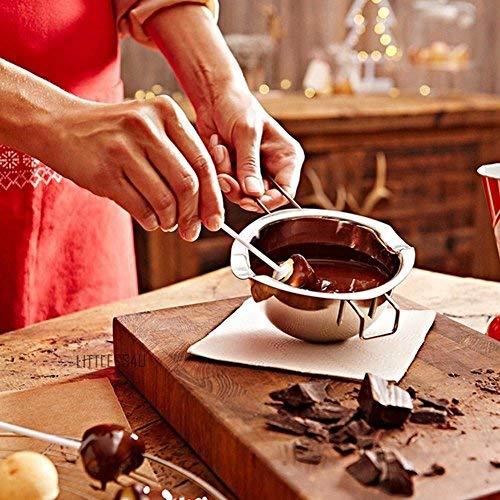 Milopon Wasserbad Schmelzschale Schokolade Schmelzen Topf Edelstahl Sch/üssel mit Griff zum Schmelzen Schmelztopf Beheizte Butter K/äse Creme K/üche Backen Werkzeuge