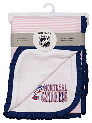 Outerstuff NHL Montreal Canadiens Layette Newborn Love Blanket, One Size, White (Montreal Bedding)