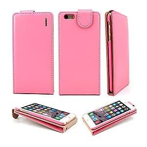G4GADGET Súper Mejor iPhone 6 (4,7 Pulgadas) de Cuero de la Cubierta del Caso del tirón Rosa Claro con Dos Ranura para Tarjeta para Apple iPhone 6 (4,7 Pulgadas)