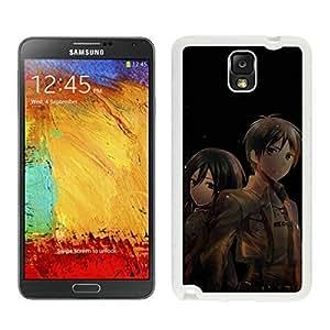 Grace Protective Attack on Titan 6 White Samsung Galaxy Note 3 Case