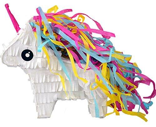 Unicorn & Rainbow Donkey Mini Piñata, (12 Pack) Serves as a Great Party Favor Box