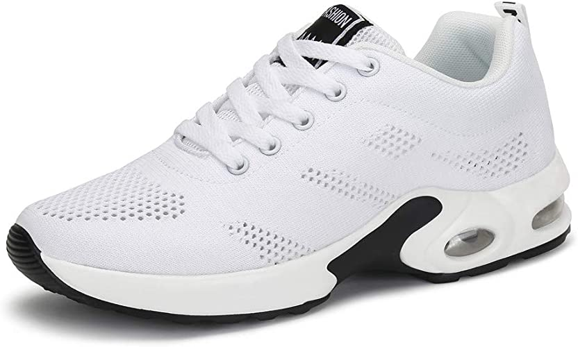 Zapatillas Deportivas de Mujer Air Cordones Zapatillas de Running Fitness Sneakers 4cm Negro Rojo Rosado Púrpura Blanco 35-42: Amazon.es: Zapatos y complementos