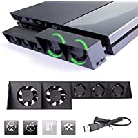 LinkStyle PS4 Cooling Fan, USB External Cooler 5 Fan...