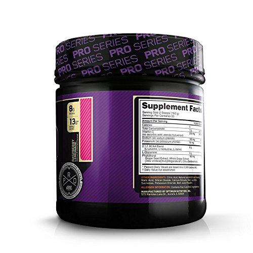 Optimum Nutrition Pro BCAA Drink Mix, Raspberry Lemonade, 20 Servings, 13.7 Ounce