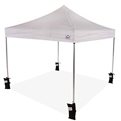 Impact Canopy Pop up Canopy Tent 10x10 Gazebo with Weight Bags (Choose Color) (White): Garden & Outdoor