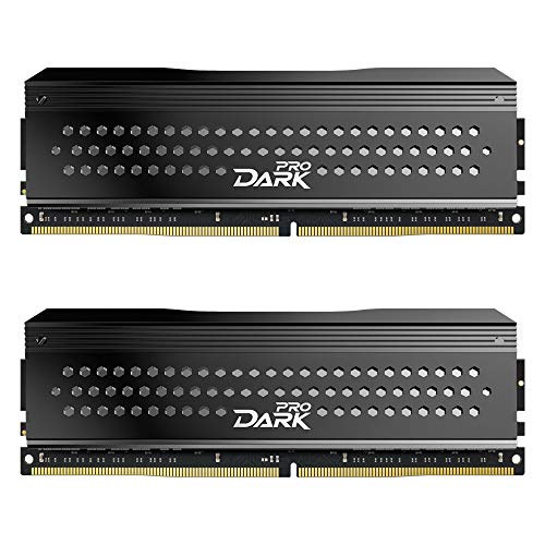 رم تیم گروپ تی فورس دارک پرو TEAMGROUP T-Force Dark Pro DDR4 16GB Kit (2 x 8GB) 3466MHz (PC4 27700) CL 16 288-Pin SDRAM Desktop Gaming Memory Module Ram - Gray -