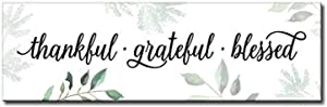 My Word! Thankful Grateful Blessed Decorative Home Décor Wooden Signs
